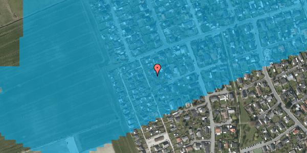 Oversvømmelsesrisiko fra vandløb på Hf. Dahlia 48, 2650 Hvidovre