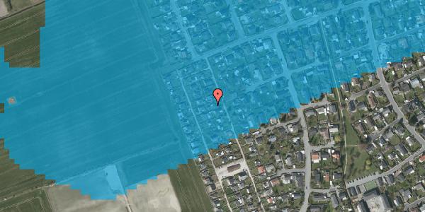 Oversvømmelsesrisiko fra vandløb på Hf. Dahlia 43, 2650 Hvidovre