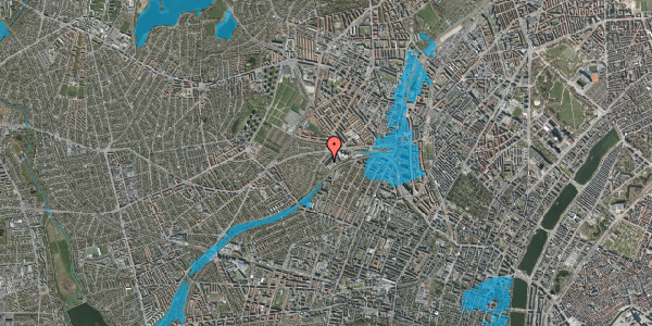 Oversvømmelsesrisiko fra vandløb på Jordbærvej 119, 2400 København NV