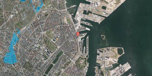 Oversvømmelsesrisiko fra vandløb på Østbanegade 103A, 2100 København Ø