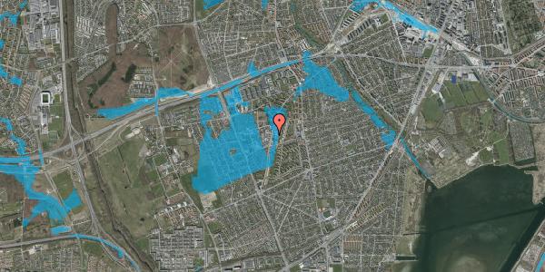 Oversvømmelsesrisiko fra vandløb på Arnold Nielsens Boulevard 71, st. , 2650 Hvidovre