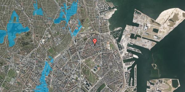 Oversvømmelsesrisiko fra vandløb på Nygårdsvej 34, 4. 1, 2100 København Ø