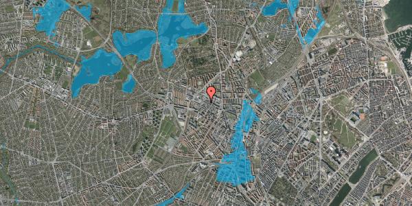 Oversvømmelsesrisiko fra vandløb på Rentemestervej 43, 2400 København NV