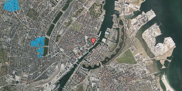 Oversvømmelsesrisiko fra vandløb på Peder Skrams Gade 24, st. , 1054 København K