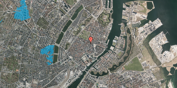 Oversvømmelsesrisiko fra vandløb på Store Regnegade 2, 2. , 1110 København K