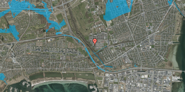 Oversvømmelsesrisiko fra vandløb på Bymuren 91A, 1. 2, 2650 Hvidovre