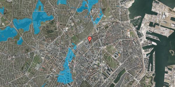 Oversvømmelsesrisiko fra vandløb på Emblasgade 153, 1. th, 2100 København Ø