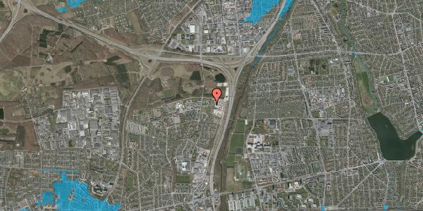 Oversvømmelsesrisiko fra vandløb på Lerkespield 1, 2600 Glostrup
