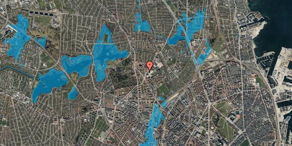 Oversvømmelsesrisiko fra vandløb på Peter Rørdams Vej 2F, 2400 København NV