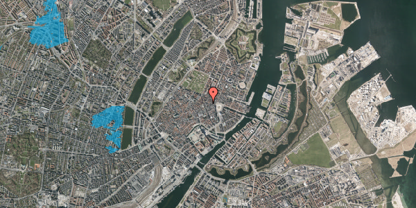 Oversvømmelsesrisiko fra vandløb på Ny Østergade 13, 1101 København K