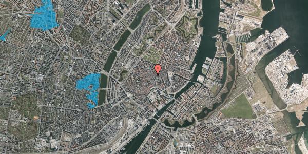 Oversvømmelsesrisiko fra vandløb på Købmagergade 26, 2. th, 1150 København K