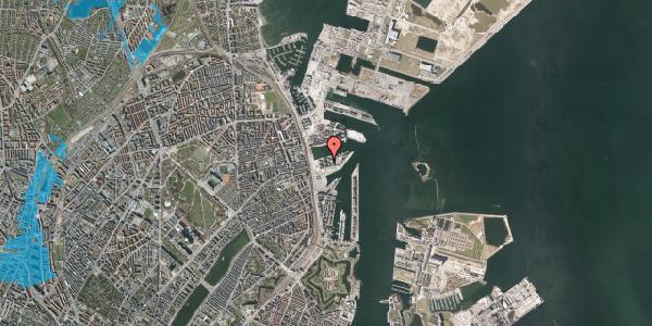 Oversvømmelsesrisiko fra vandløb på Marmorvej 15C, 5. th, 2100 København Ø