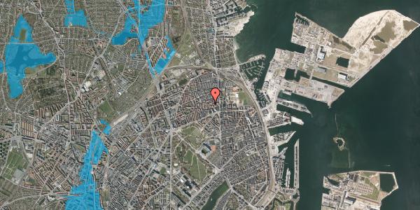 Oversvømmelsesrisiko fra vandløb på Reersøgade 15B, 2100 København Ø