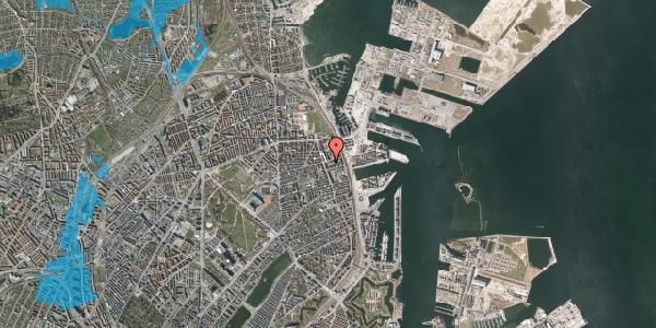 Oversvømmelsesrisiko fra vandløb på Århusgade 102, 4. , 2100 København Ø