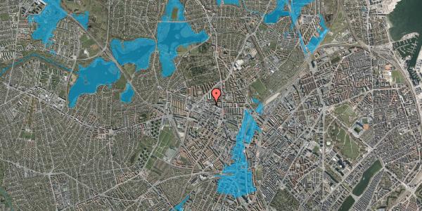 Oversvømmelsesrisiko fra vandløb på Dortheavej 2K, 2400 København NV
