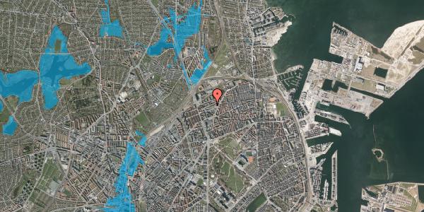 Oversvømmelsesrisiko fra vandløb på Venøgade 24, 3. mf, 2100 København Ø