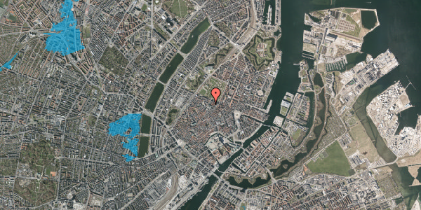 Oversvømmelsesrisiko fra vandløb på Vognmagergade 9, 4. , 1120 København K