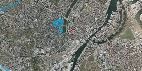 Oversvømmelsesrisiko fra vandløb på Reventlowsgade 10, 4. th, 1651 København V