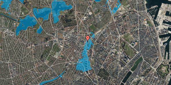 Oversvømmelsesrisiko fra vandløb på Rentemestervej 2B, st. , 2400 København NV