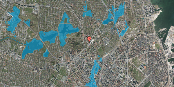 Oversvømmelsesrisiko fra vandløb på Tagensvej 241B, 2400 København NV