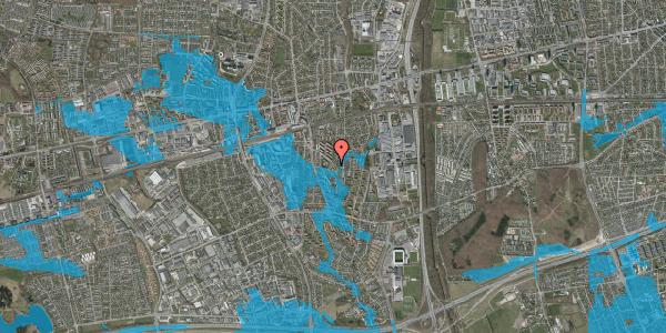 Oversvømmelsesrisiko fra vandløb på Brøndbyvestervej 24B, 2600 Glostrup