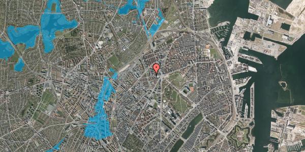 Oversvømmelsesrisiko fra vandløb på Aldersrogade 8A, 2. , 2100 København Ø