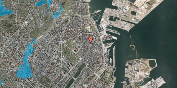 Oversvømmelsesrisiko fra vandløb på Viborggade 50, 1. th, 2100 København Ø