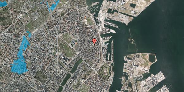 Oversvømmelsesrisiko fra vandløb på Rosenvængets Hovedvej 37, 2100 København Ø