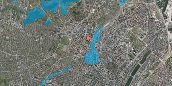 Oversvømmelsesrisiko fra vandløb på Tranevej 6C, 2400 København NV