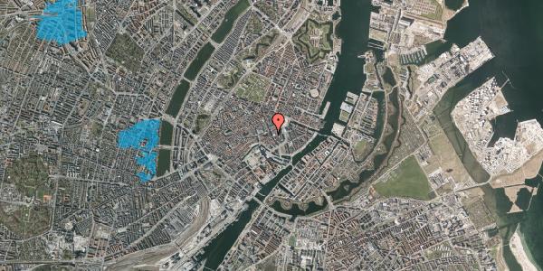 Oversvømmelsesrisiko fra vandløb på Bremerholm 18, 4. tv, 1069 København K