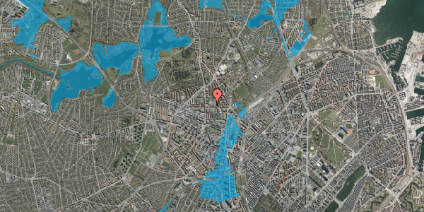 Oversvømmelsesrisiko fra vandløb på Landsdommervej 20, 2400 København NV