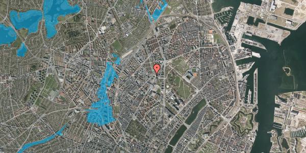 Oversvømmelsesrisiko fra vandløb på Sifs Plads 13, 2100 København Ø