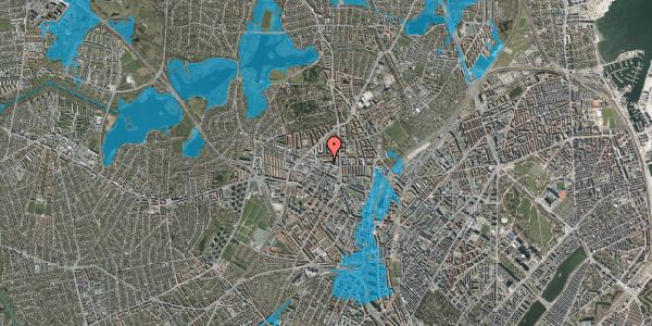 Oversvømmelsesrisiko fra vandløb på Dortheavej 2F, 2. th, 2400 København NV