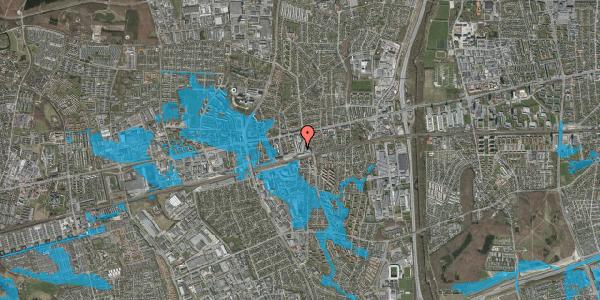 Oversvømmelsesrisiko fra vandløb på Banegårdsvej 6, 2600 Glostrup