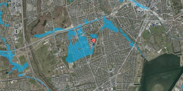 Oversvømmelsesrisiko fra vandløb på Arnold Nielsens Boulevard 70, 1. , 2650 Hvidovre