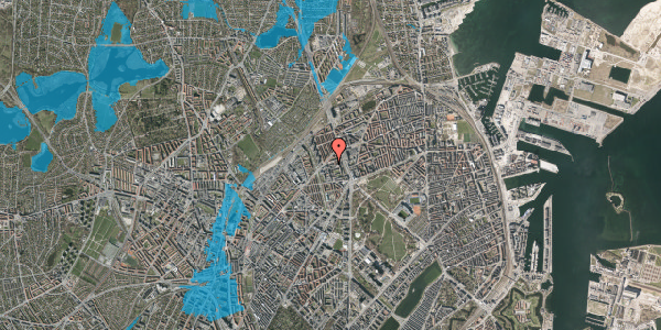 Oversvømmelsesrisiko fra vandløb på Ragnagade 15, 4. 1, 2100 København Ø
