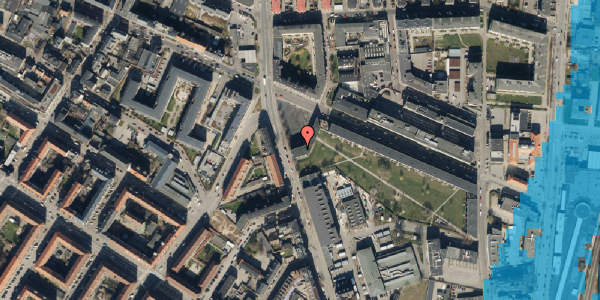 Oversvømmelsesrisiko fra vandløb på Frederiksborgvej 36, 2400 København NV