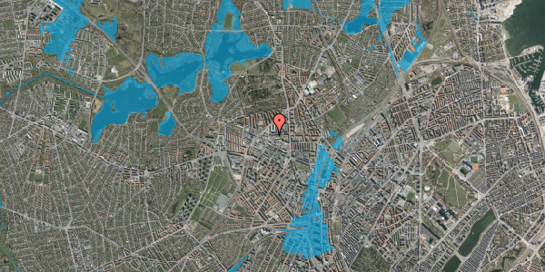 Oversvømmelsesrisiko fra vandløb på Birkedommervej 27, 2. , 2400 København NV
