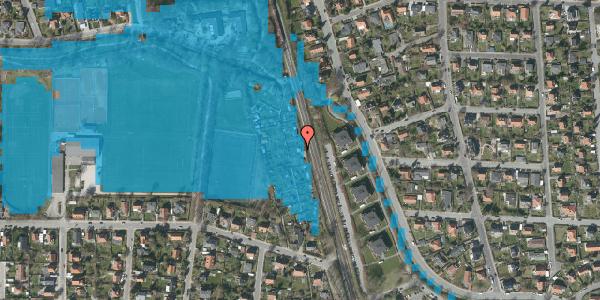 Oversvømmelsesrisiko fra vandløb på Rødhalsgangen 10, 2400 København NV