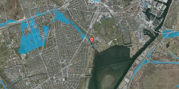 Oversvømmelsesrisiko fra vandløb på Engstykkevej 14, 2650 Hvidovre