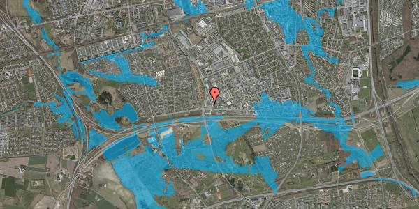 Oversvømmelsesrisiko fra vandløb på Jydekrogen 7, st. 1, 2625 Vallensbæk