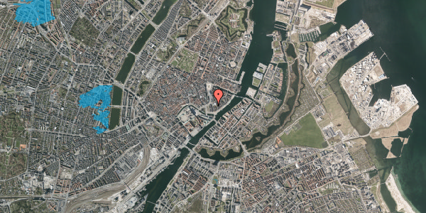 Oversvømmelsesrisiko fra vandløb på Niels Juels Gade 5, 3. , 1059 København K