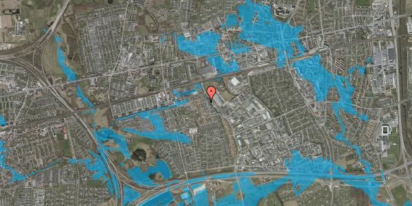Oversvømmelsesrisiko fra vandløb på Grønkløvervænget 4, 2625 Vallensbæk