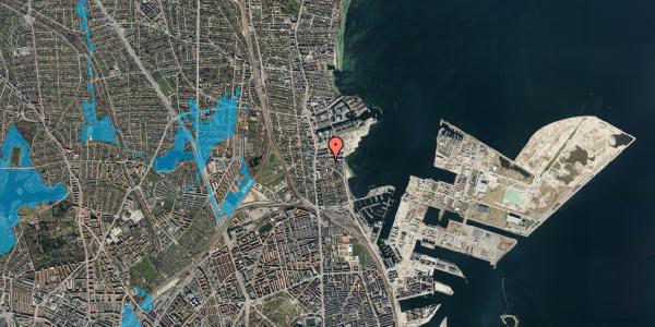 Oversvømmelsesrisiko fra vandløb på Strandøre 5B, 2100 København Ø