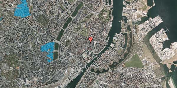 Oversvømmelsesrisiko fra vandløb på Pilestræde 14, 1112 København K