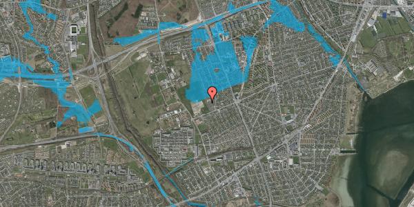 Oversvømmelsesrisiko fra vandløb på Hf. Dahlia 88, 2650 Hvidovre