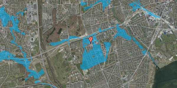 Oversvømmelsesrisiko fra vandløb på Hf. Kettehøj 124, 2650 Hvidovre