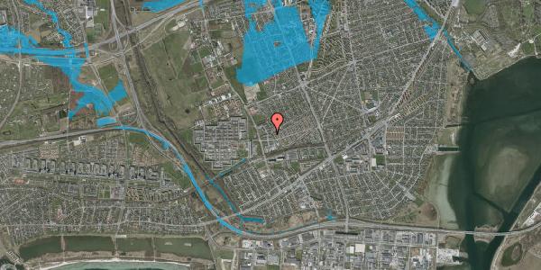 Oversvømmelsesrisiko fra vandløb på Mellemvangsvej 40, 2650 Hvidovre