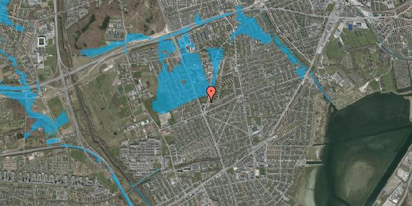 Oversvømmelsesrisiko fra vandløb på Arnold Nielsens Boulevard 124, 1. , 2650 Hvidovre
