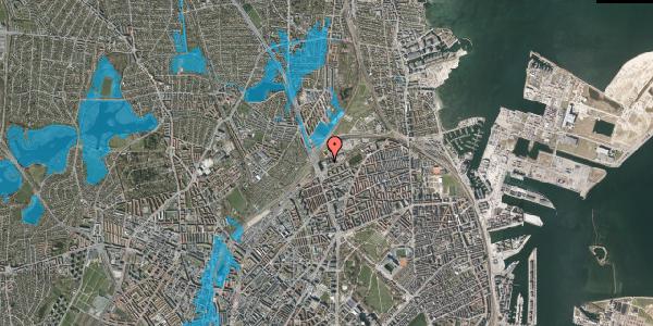 Oversvømmelsesrisiko fra vandløb på Hans Knudsens Plads 3D, 3. , 2100 København Ø